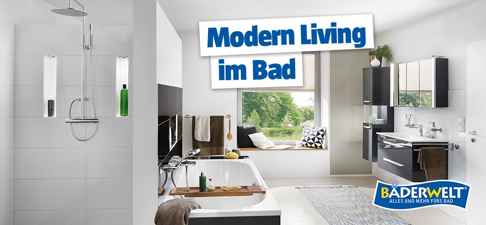 BAUHAUS BÄDERWELT Modernes Bad: Modern Living im Bad