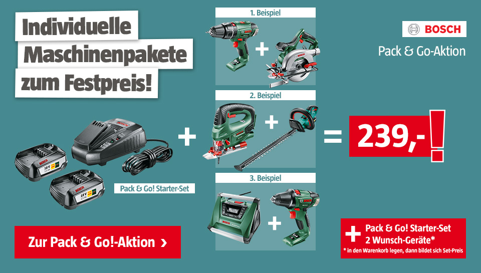 Bosch Pack Go Aktion