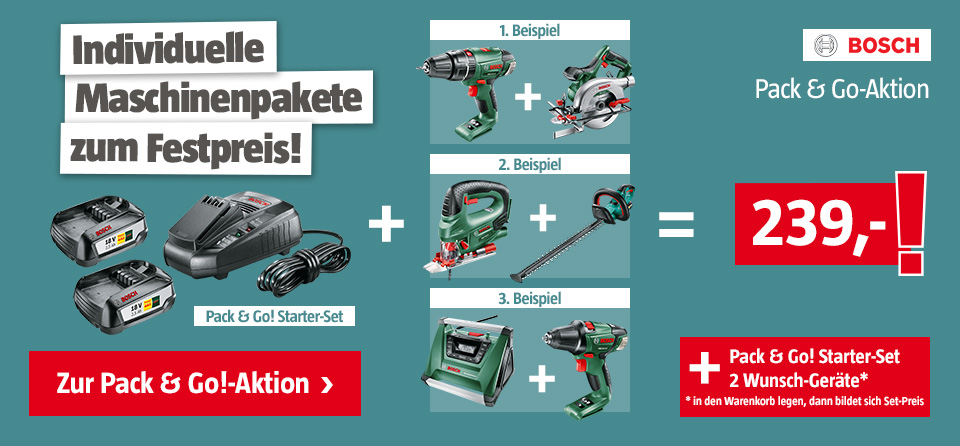 Bosch Pack&Go! Aktion