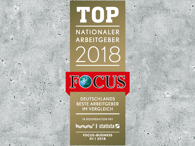 Focus Top Arbeitgeber Badge 2018