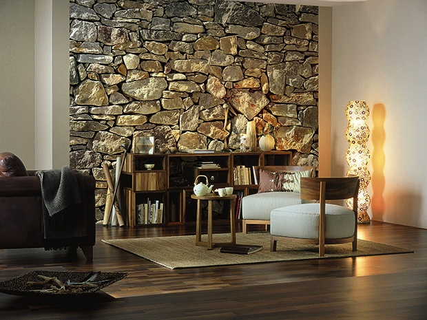 komar fototapete stone wall 8 tlg 368 x 254 cm. Black Bedroom Furniture Sets. Home Design Ideas
