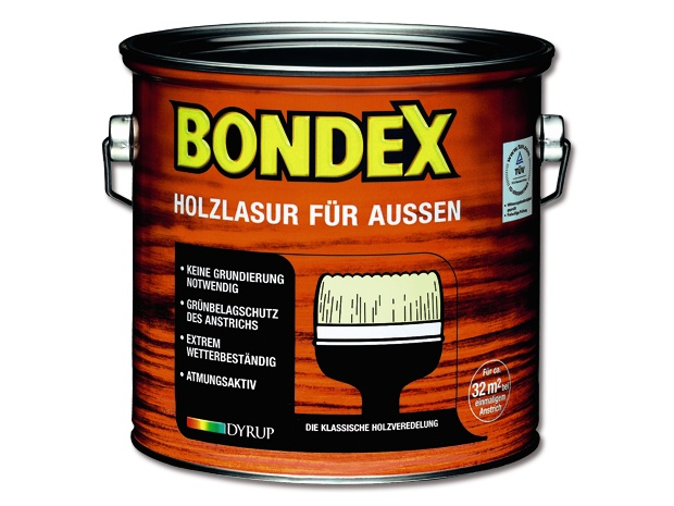bondex holzlasur f r au en eiche hell 2 5 l seidenmatt l semittelbasiert. Black Bedroom Furniture Sets. Home Design Ideas