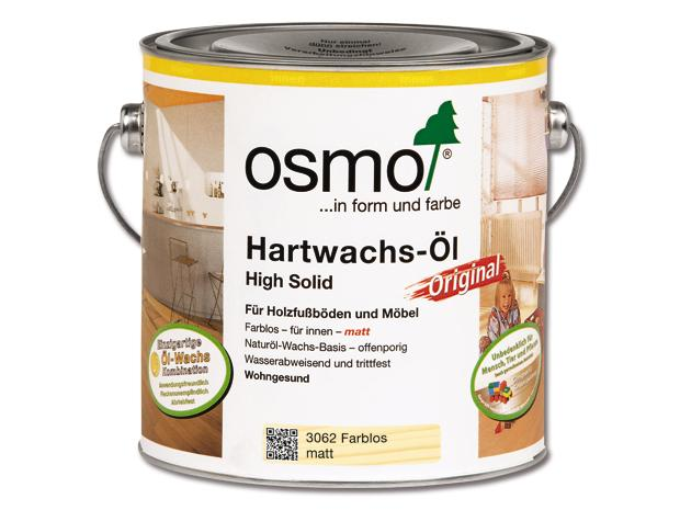 osmo high solid hartwachs l original 3062 farblos 2 5 l. Black Bedroom Furniture Sets. Home Design Ideas