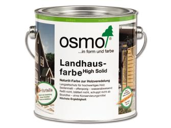 osmo high solid landhausfarbe kieselgrau 2 5 l seidenmatt natur lbasis. Black Bedroom Furniture Sets. Home Design Ideas