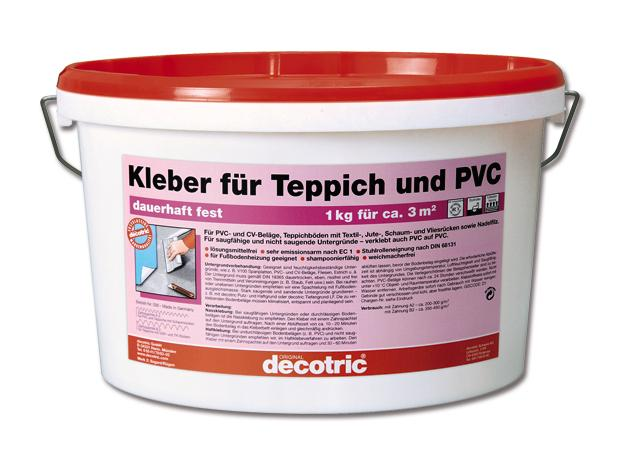 decotric kleber f r teppich und pvc 5 kg gebrauchsfertig innen. Black Bedroom Furniture Sets. Home Design Ideas