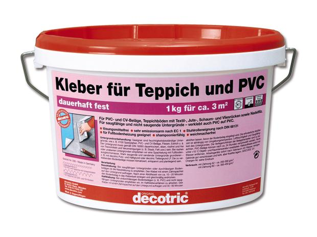 decotric kleber f r teppich und pvc 3 kg gebrauchsfertig innen. Black Bedroom Furniture Sets. Home Design Ideas