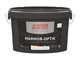 sch ner wohnen trendstruktur grundspachtel 5 kg marmor optik grundfarbe zum abt nen matt. Black Bedroom Furniture Sets. Home Design Ideas