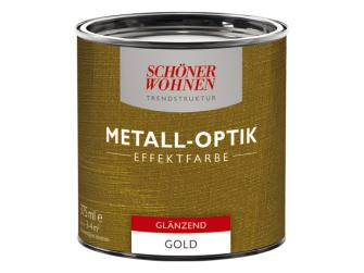 sch ner wohnen metall optik effektfarbe trendstruktur gold 375 ml gl nzend. Black Bedroom Furniture Sets. Home Design Ideas
