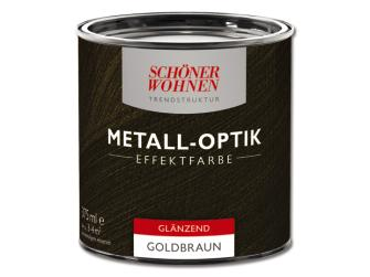 sch ner wohnen trendstruktur metall optik effektfarbe goldbraun 375 ml gl nzend. Black Bedroom Furniture Sets. Home Design Ideas