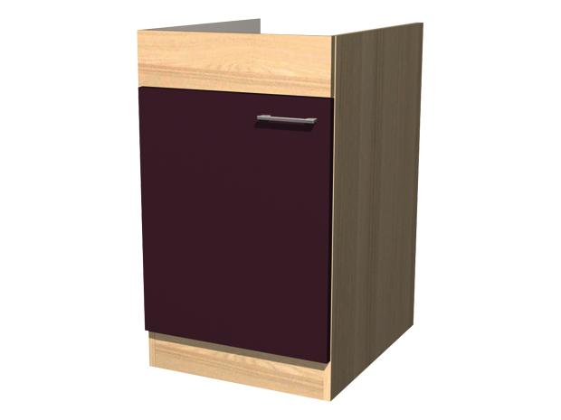 sp lenunterschrank sofia 57 x 50 x 85 cm dekor front akazie aubergine. Black Bedroom Furniture Sets. Home Design Ideas
