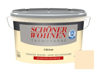 sch ner wohnen trendfarbe cream seidengl nzend 2 5 l. Black Bedroom Furniture Sets. Home Design Ideas
