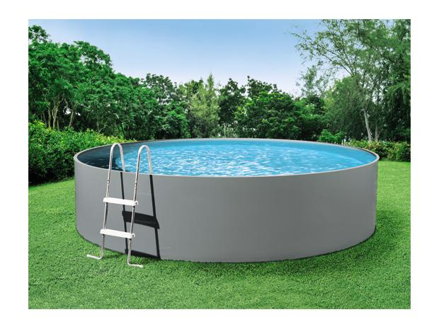 Mypool pool komplettset splash grau durchmesser 3 6 m for Garten pool komplettset
