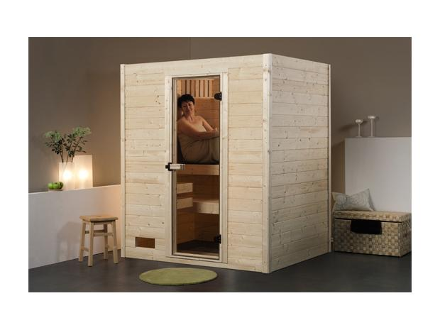 weka samu massivholz sauna mit 7 5 kw bio ofen mit externer steuerung 139 x 189 x 203 cm. Black Bedroom Furniture Sets. Home Design Ideas