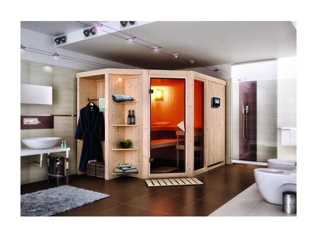 karibu matos systemsauna mit 9 kw saunaofen mit. Black Bedroom Furniture Sets. Home Design Ideas