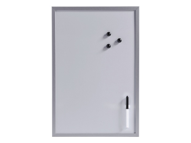 magnet schreibtafel 60 cm x 40 cm x 14 mm metall inkl stift stiftehalter 3 magnete. Black Bedroom Furniture Sets. Home Design Ideas