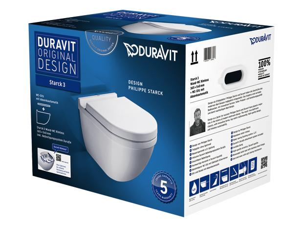 duravit sp lrandloses wand wc set starck 3 mit wc sitz tiefsp ler wei. Black Bedroom Furniture Sets. Home Design Ideas