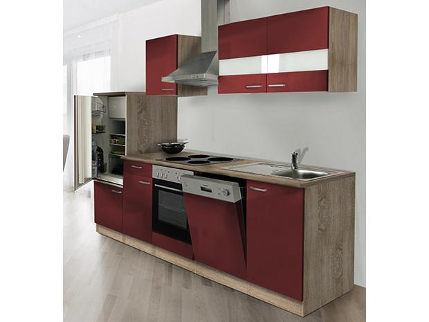 respekta k chenzeile kb280esr breite 280 cm rot. Black Bedroom Furniture Sets. Home Design Ideas