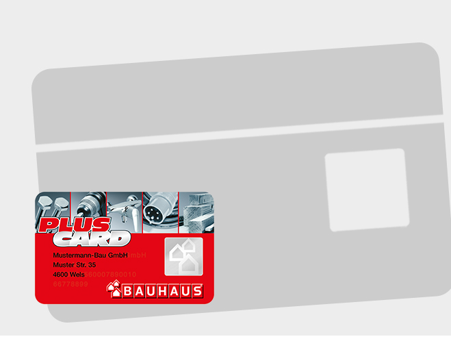 Bauhaus Service Grafik PLUS CARD