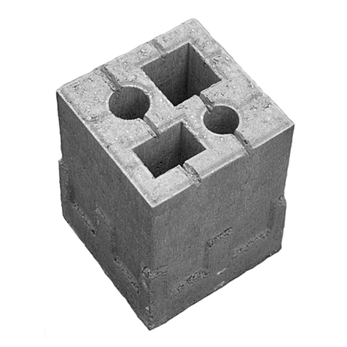 Zaun Fundamentstein 4in1 Grau 19 X 19 X 25 Cm Beton 5705 So