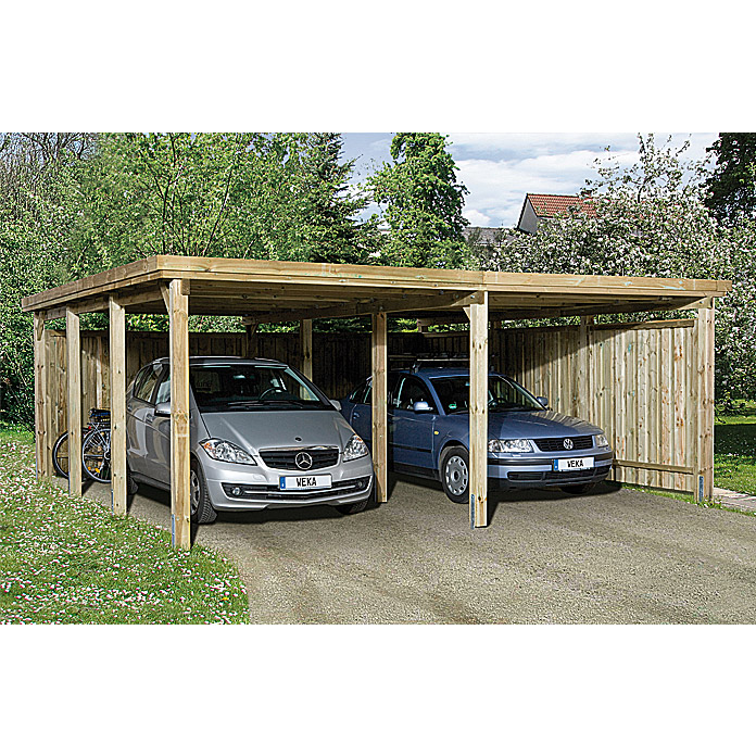 Weka Doppelcarport Optima Duo (6,12 x 6,03 m)