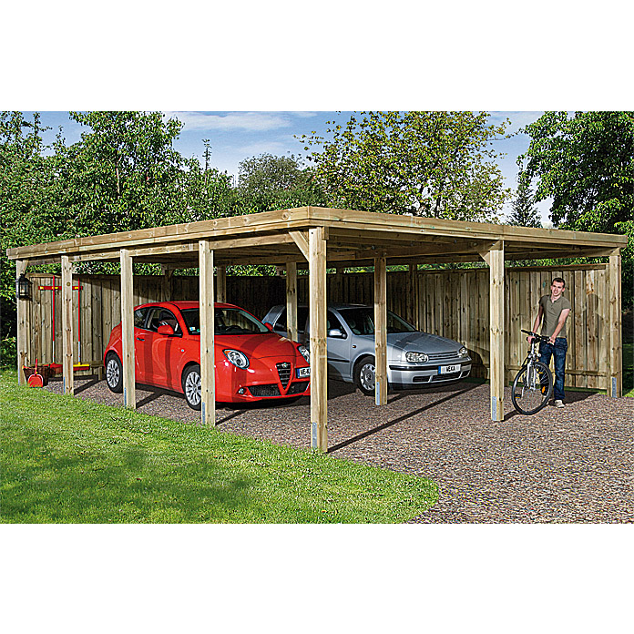 Weka Doppelcarport Optima Duo (8,02 x 6,03 m)