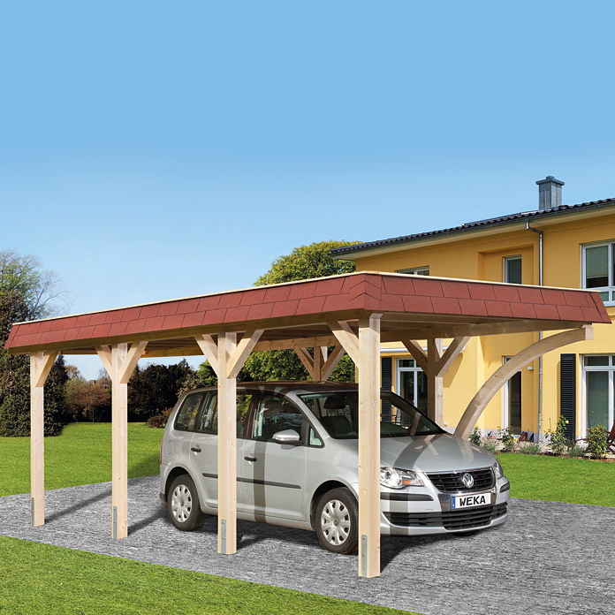 weka carport 6 39 x 3 37 m einfahrtsh he 2 09 m. Black Bedroom Furniture Sets. Home Design Ideas