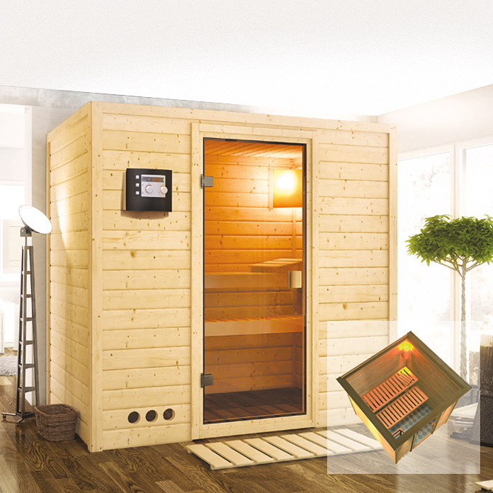 karibu sauna sparset radina mit plug play ofen 3 6 kw. Black Bedroom Furniture Sets. Home Design Ideas