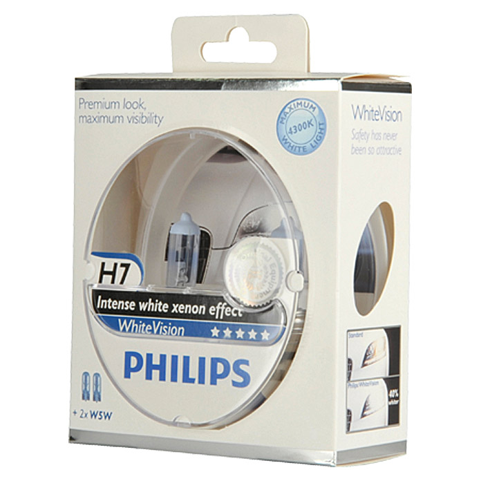 Philips Halogen-Scheinwerferlampen Set White Vision
