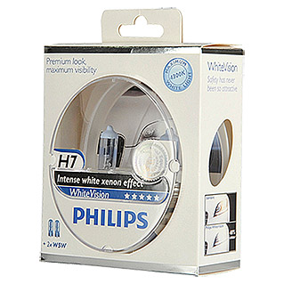 Philips Set halogeenkoplampen White Vision (H7, Per 2 stk., 55 W)