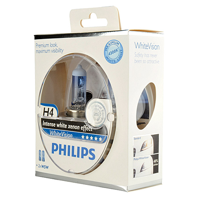 H4 WHITE  VISION    PHILIPS