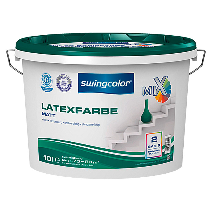 swingcolor Mix Latexfarbe (Basismischfarbe, 10 l, Matt)