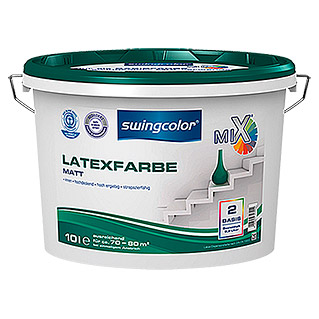 swingcolor Mix Latexfarbe Basis 2 (Basismischfarbe, 10 l, Matt)