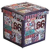 MULTIFUNKTIONSBOX   ROUTE 66 38X38X38 cm