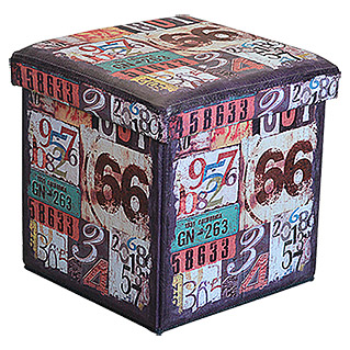 Multifunktionsbox  (Route 66, 38 x 38 x 38 cm)