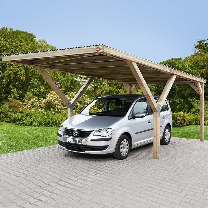 y einzelcarport mit flachdach 7440 carport holz iagd gartenhaeuser iag. Black Bedroom Furniture Sets. Home Design Ideas
