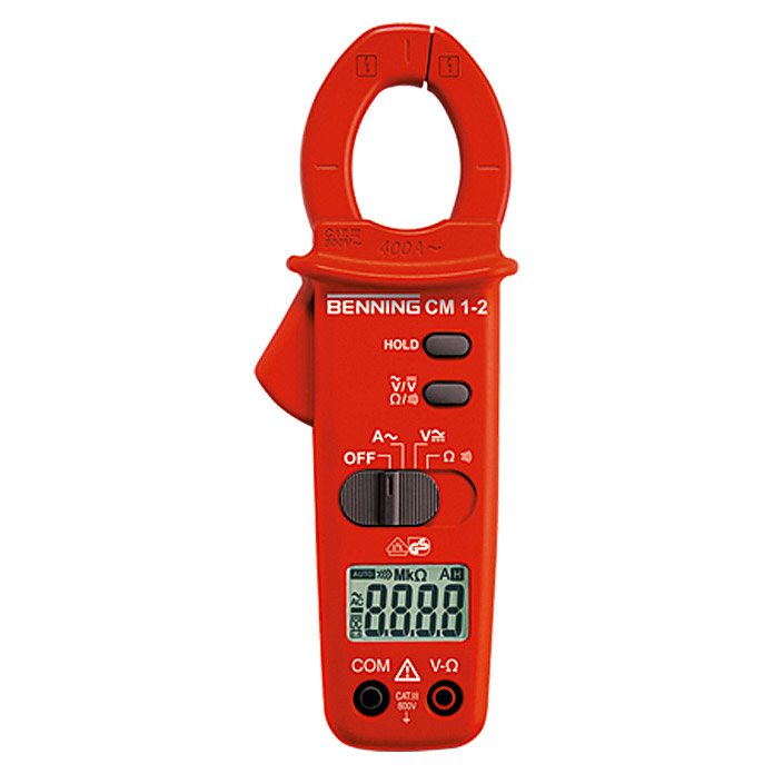 Benning Digital-Stromzangen-Multimeter CM 1-2 (2-polig, IP30)