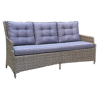 Sunfun Elements Amelie Sofa (200 cm, Polyrattan, Nature Grey)