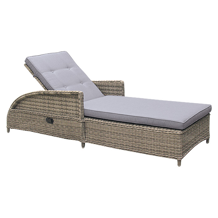 Sunfun Elements Komfortliege Amelie (Halfmoon-Geflecht, Nature Grey)