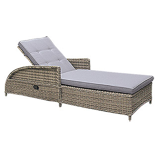 Sunfun Elements Komfortliege Amelie (Polyrattan, Nature Grey)