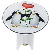 PINGUIN IN LOVE DESIGN-EXCENTERSTOPFEN 6cm