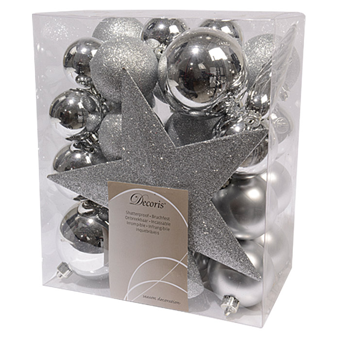 Christbaumkugel Mix  (Silber)