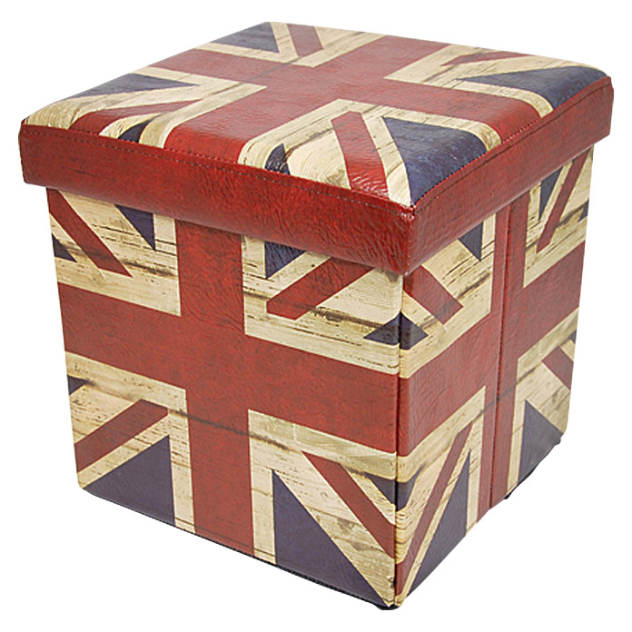 MULTIFUNKTIONSBOX UKFLAG 38X38X38 cm