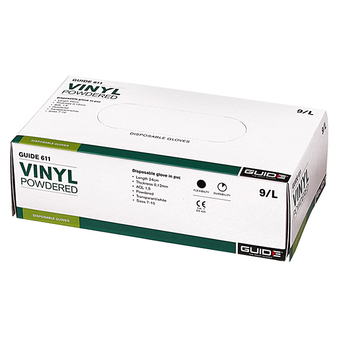 VINYL     (100 ST.) GUIDE 611 10/XL