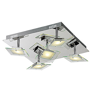 Tween Light LED-Deckenleuchte Cento Quadro (5-flammig, Max. Leistung: 15 W, Chrom, Warmweiß)