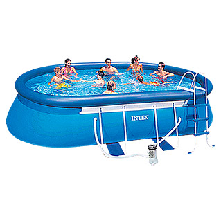 Intex Frame-Pool-Set (549 x 305 x 107 cm, Fassungsvermögen: 10,92 m³, Oval)