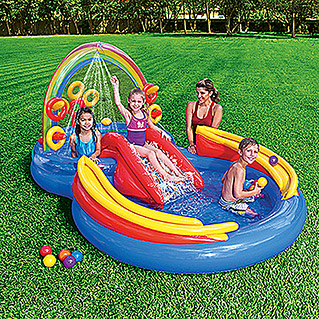 Intex Planschbecken Rainbow Ring (2 Pools, Gesamtvolumen: 428 l)