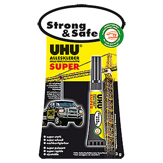 UHU Alleskleber Super Strong & Safe (3 g, Tube)