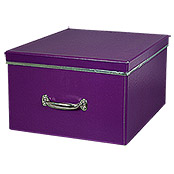 XL STORAGE BOX LILA 44X37X24cm