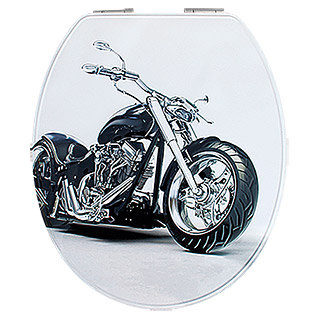 WC-SITZ MOTOR BIKE  METAL PLATE M.ABSENKPOSEIDON