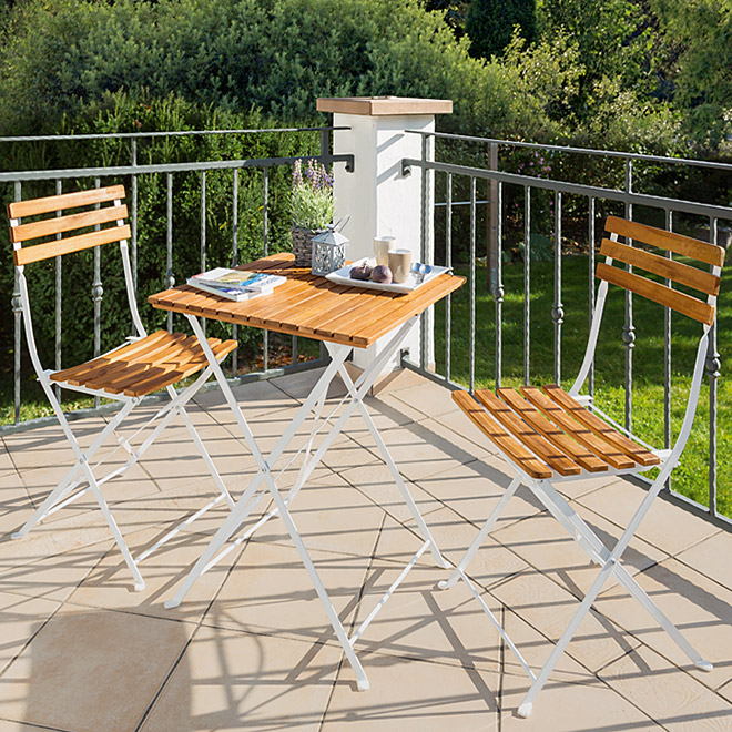 Sunfun Elements Balkon-Set Moni (3-tlg., Naturbraun)